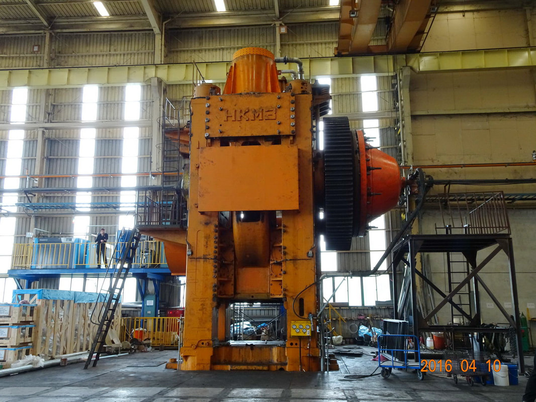 Hot forging press Kramatorsk K8548 6300 ton