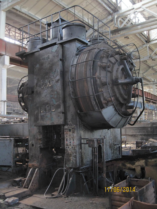 Hot forging press Voronezh KB8542 1600 TON