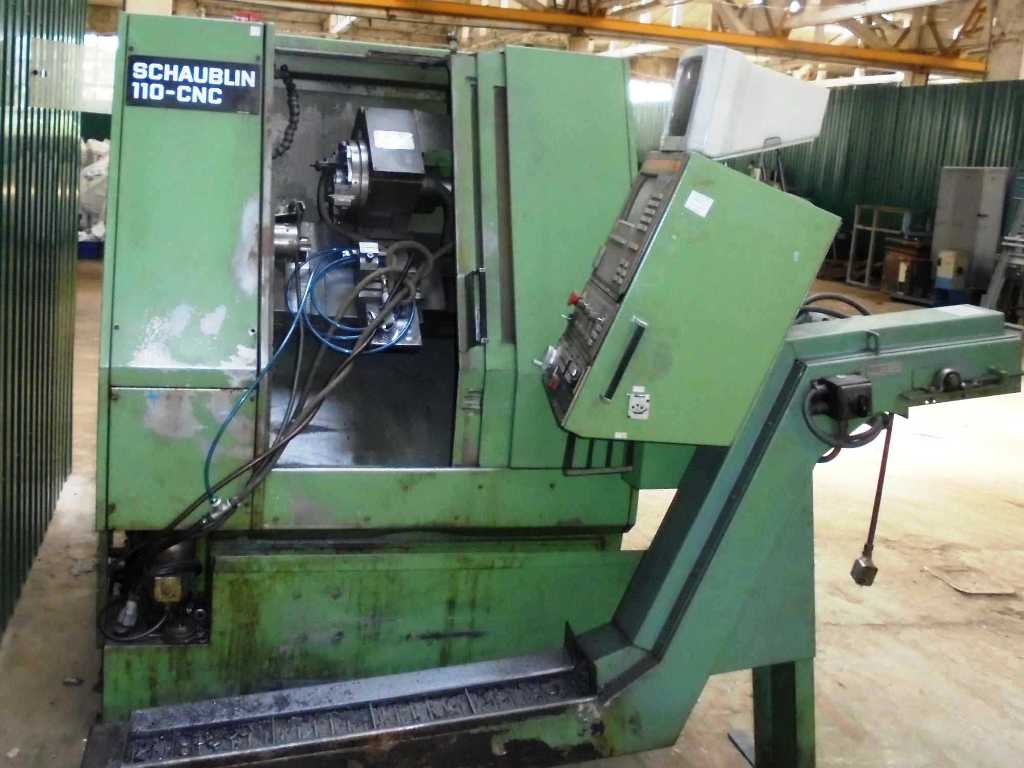 CNC lathe with slant bed Schaublin 110 CNC