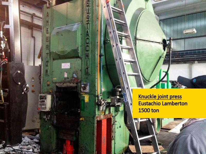 Knuckle joint press Eustachio Lamberton 1500 ton