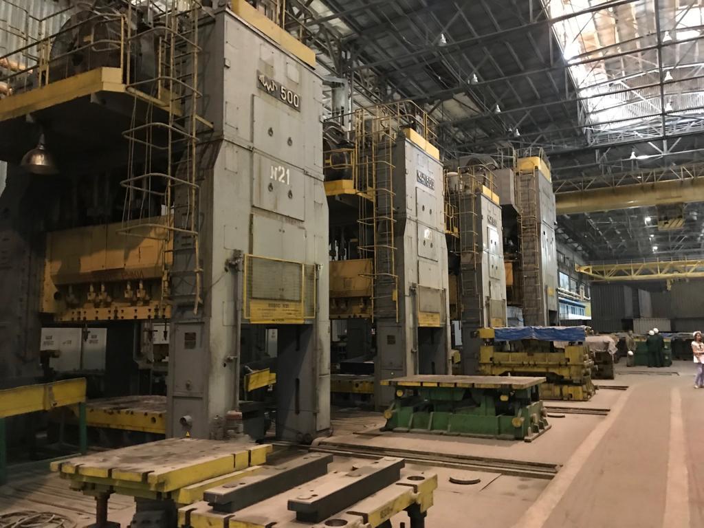 Sheet stamping press Voronezh KA3537 500 ton