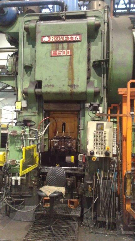 Forging line ROVETTA 1500 ton + VALDARNO 250 ton